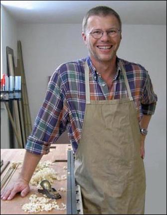 Christian Strixner in der Werkstatt